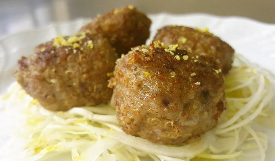 Kibbeh, polpette di agnello e quinoa
