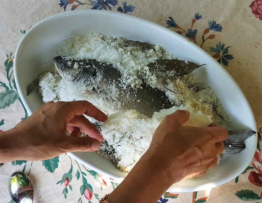 Pesce al sale tempo di cottura