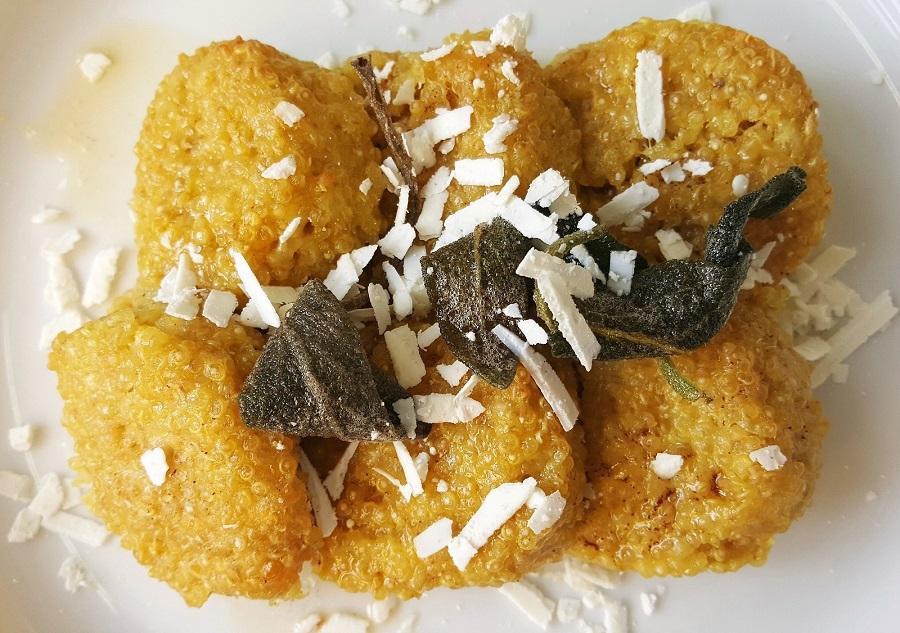 Gnocchi alla romana di quinoa