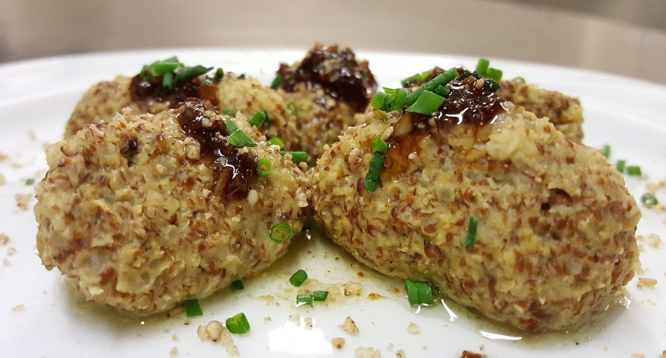 Gnocchi di miglio e ortaggi con salsa allo zenzero