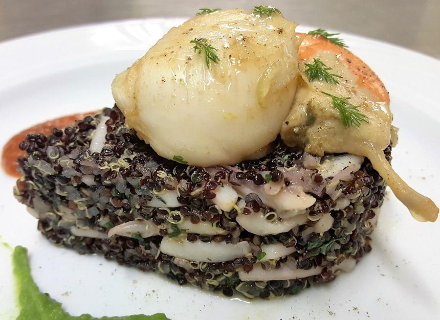 Ricetta Quinoa Nera.Quinoa Nera Con Calamari E Capesante Per La Dieta Del Gruppo Sanguigno