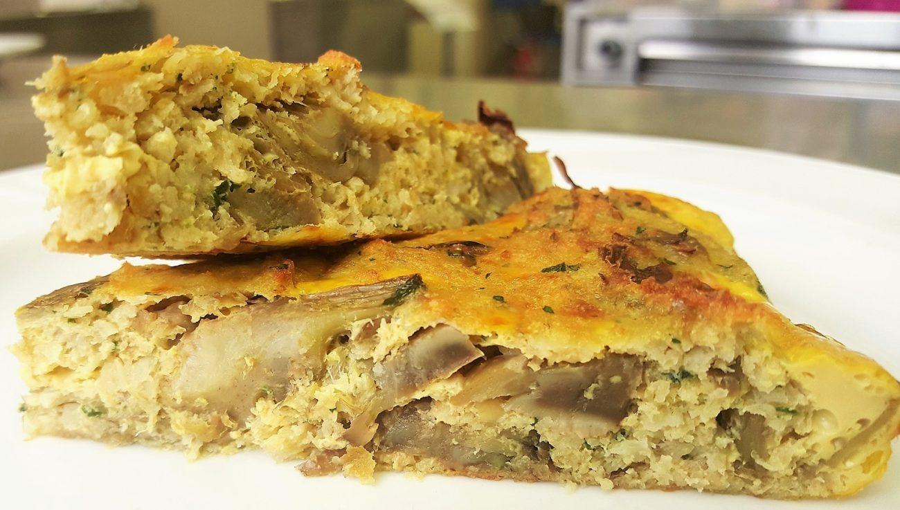 Tortilla di baccalà e carciofi