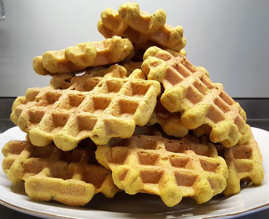 Waffles di cannellini al tonno
