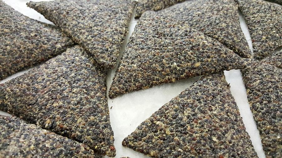 Cialde di quinoa nera