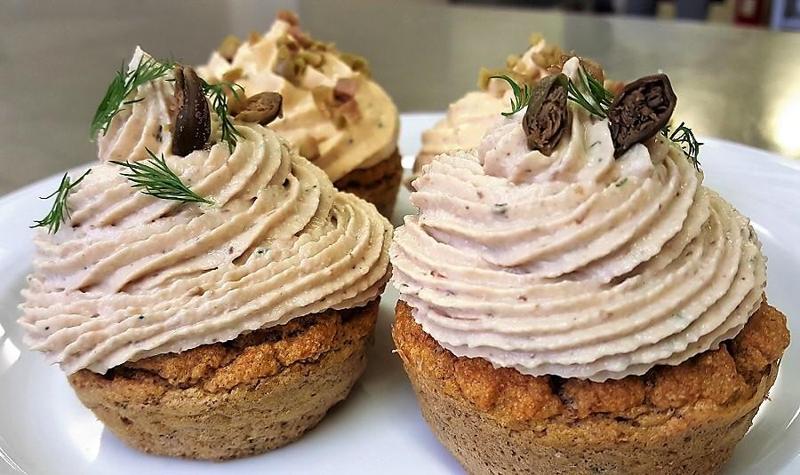 Cup cakes salati con le due mousse