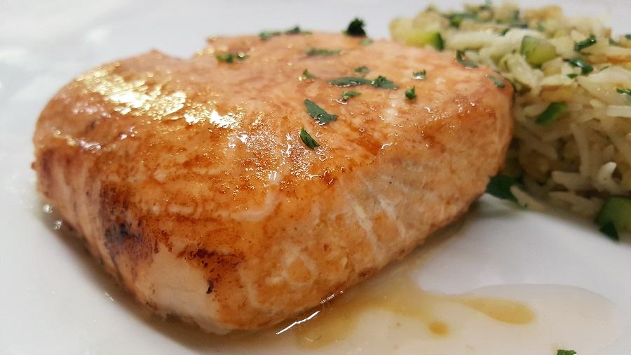 Salmone laccato