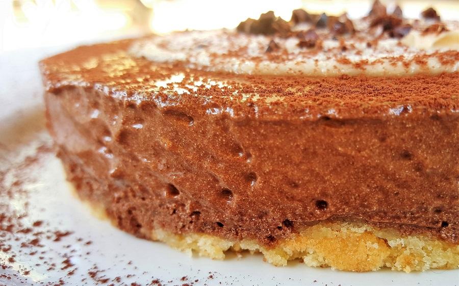 Semifreddo al cioccolato con meringa italiana