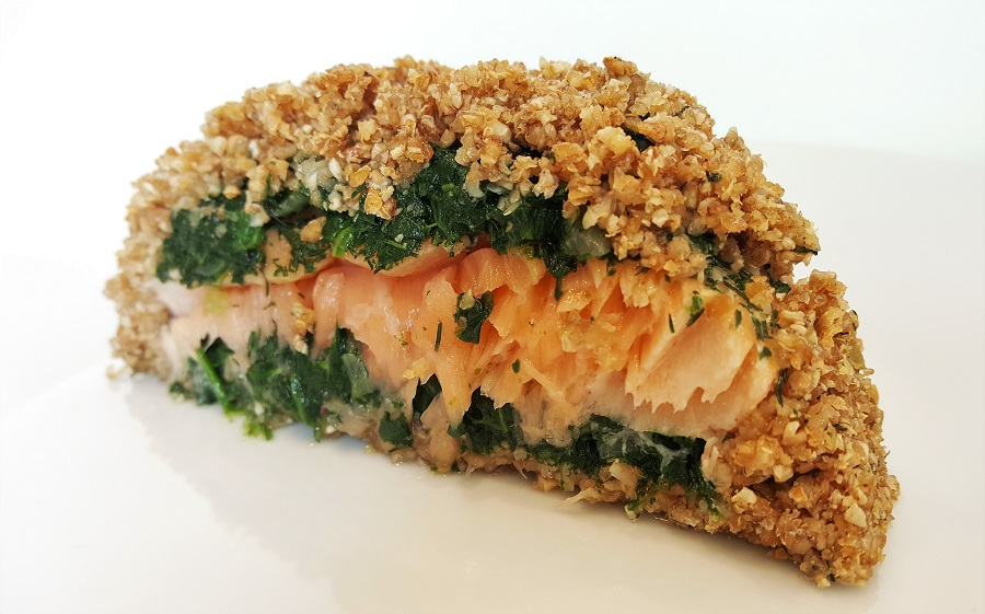 Koulibiac di salmone al grano saraceno