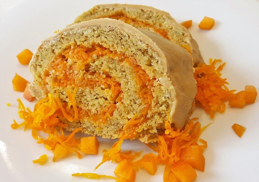Rotolo alle carote e albicocche