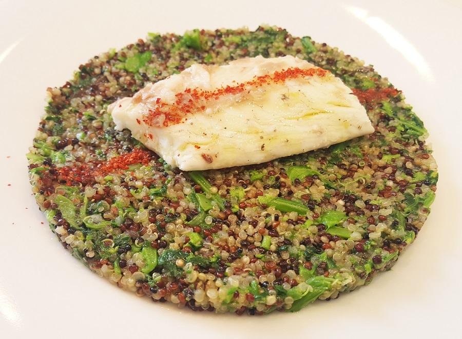 Quinoa tricolore con cime di rapa